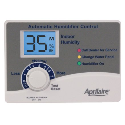 You never have to monitor settings or wait until you feel uncomfortable with the Aprilaire Automatic Digital Humidifier Control.